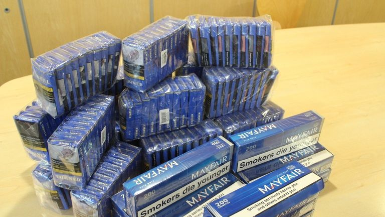 Illegal cigarettes seized by Durham County Council
