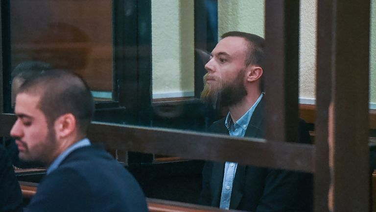 Jack Shepherd appears in court in the Georgian capital