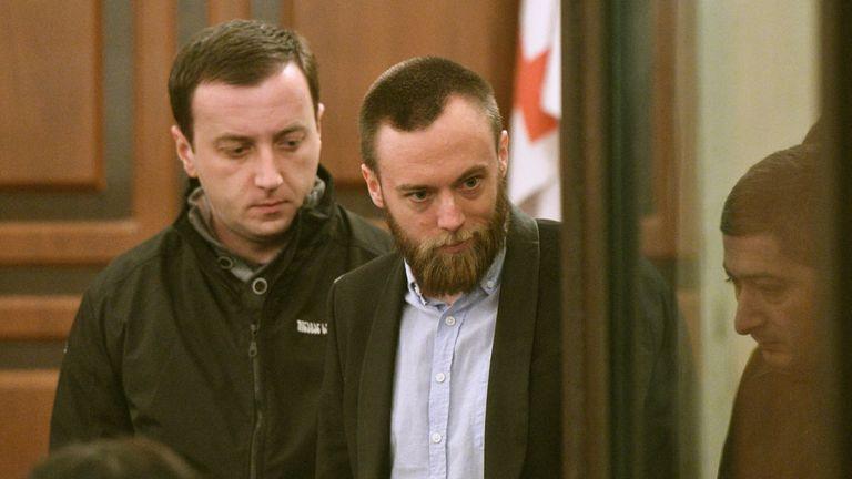 Jack Shepherd appears in court in Tbilisi