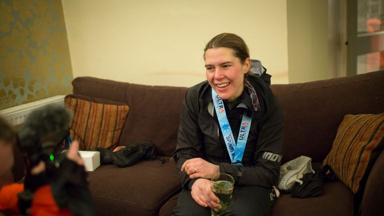 Jasmin Paris after completing the race