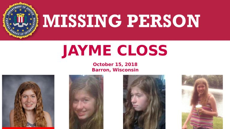 Jayme Closs had been missing since October