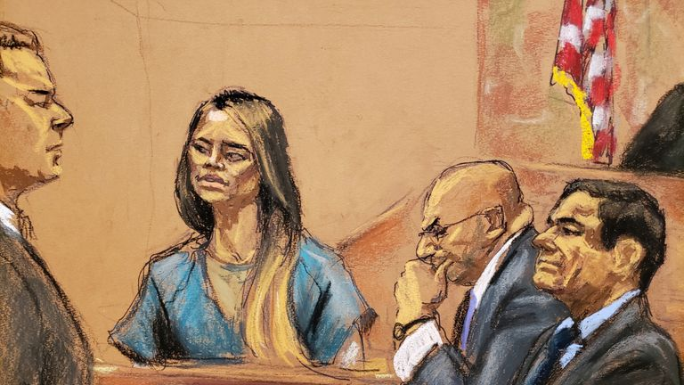Lucero Guadalupe Sanchez Lopez said she escaped with Guzman through a tunnel under a bath