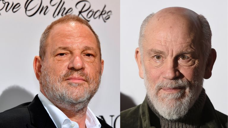 Harvey Weinstein and John Malkovich
