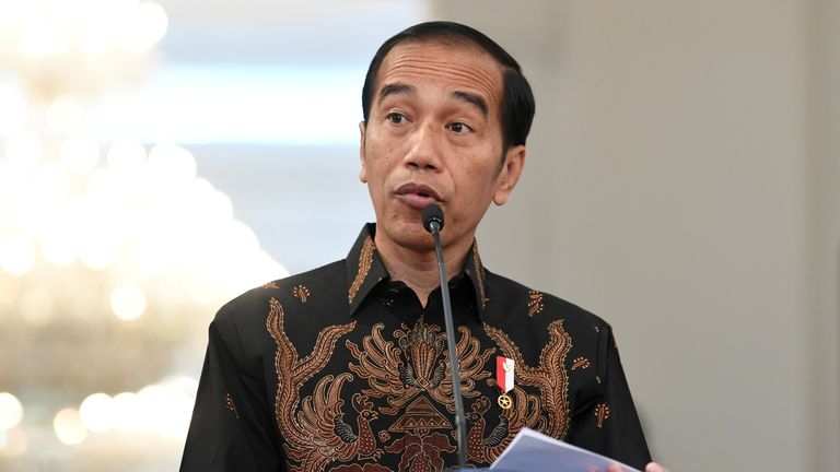 Mr Widodo has been accused by opponents of not being sufficiently Islamic