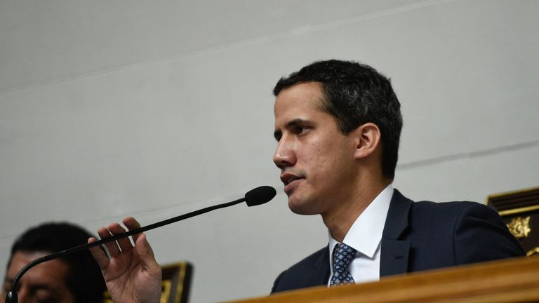 Juan Guaido declared himself president