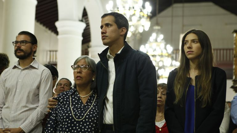 Support for Juan Guaido in the middle class districts is almost complete
