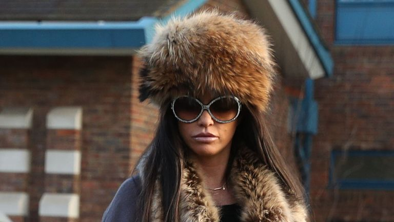 Katie Price arriving at Crawley Magistrates' Court where she is charged with driving while disqualified