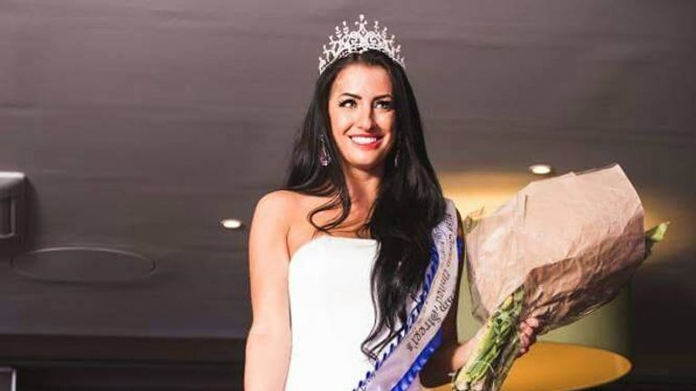 Kerri Parker won Miss UK in 2016. Pic: Twitter/Itskerriparker