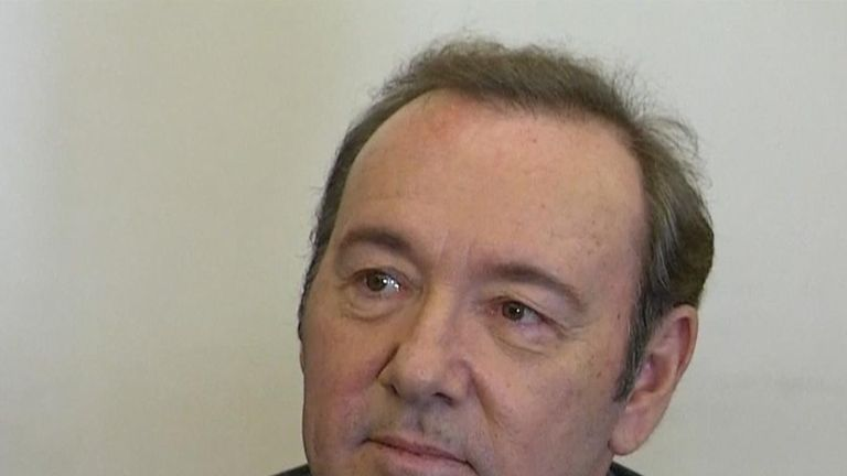 Kevin Spacey in court in the US