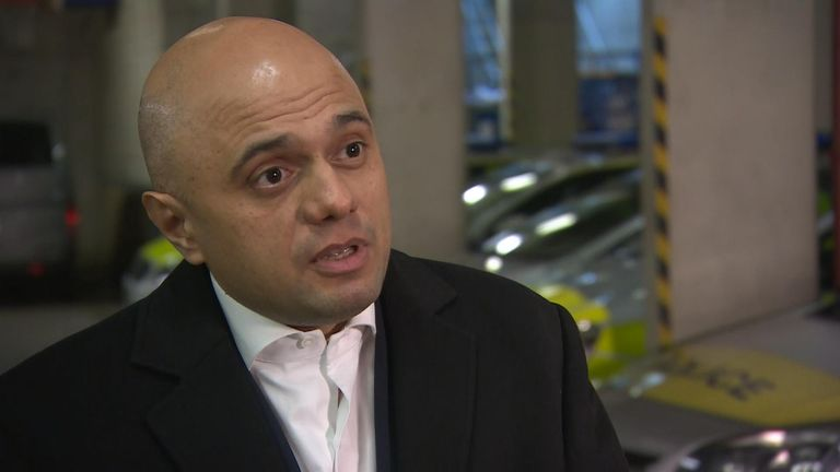 Mr Javid has unveiled ASBO-style orders placing restrictions on suspected gang members