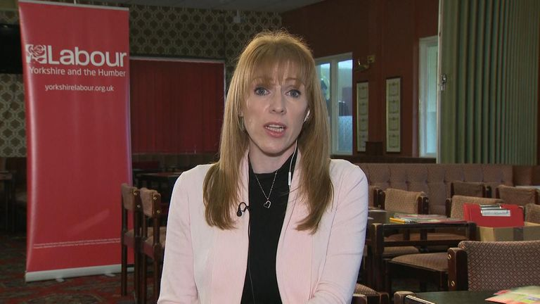 Labour MP Angela Rayner talking on Ridge on Sunday.