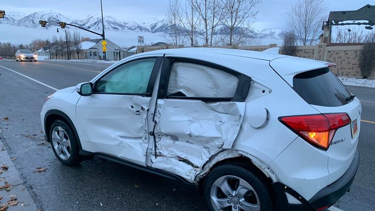 Police shared pictures of the cars after the crash in Utah
