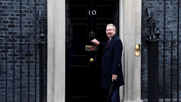 Len McCluskey, General Secretary of Unite the Union, arrives in Downing Street to meet Theresa May