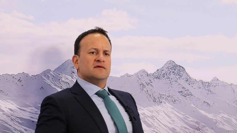 Leo Varadkar during an interview at the World Economic Forum in Davos, Switzerland