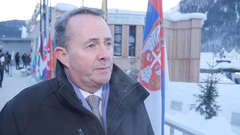 International Trade Secretaty Liam Fox said taking no-deal off the table was not possible, while speaking in Davos.