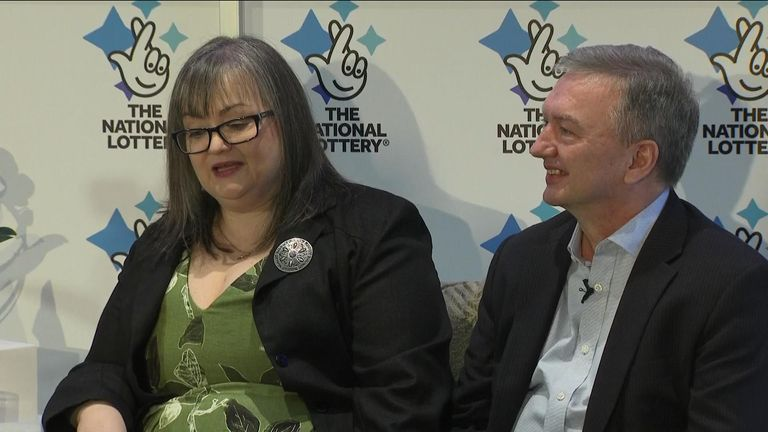 Frances and Patrick Connolly, from County Armagh, appeared at a news conference on Friday after becoming the fourth biggest UK lottery winners in history