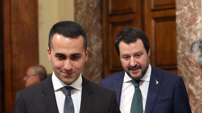 Italy's deputy PM's Luigi Di Maio and Matteo Salvini have repeatedly criticised Emmanuel Macron
