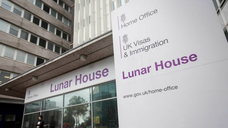 Lunar House in Croydon, south London which houses the headquarters of UK Visas and Immigration, a division of the Home Office