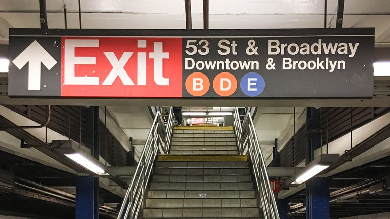 The young mother fell down the stairs at Seventh Avenue station. File pic