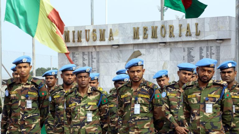 UN peacekeepers from various countries are stationed in Mali to help contend with attacks. File pic