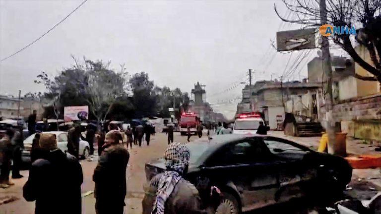 A suicide attack killed US servicemen in Manbij