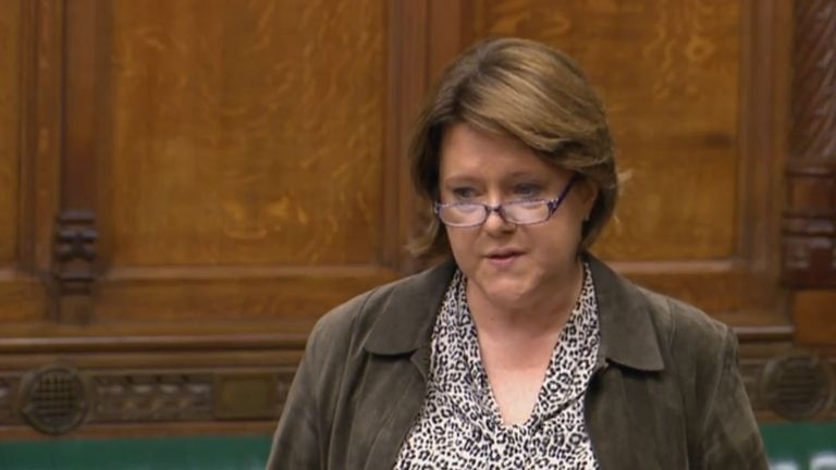 Maria Miller, chairwoman of the women and equalities committee, speaks in the House of Commons