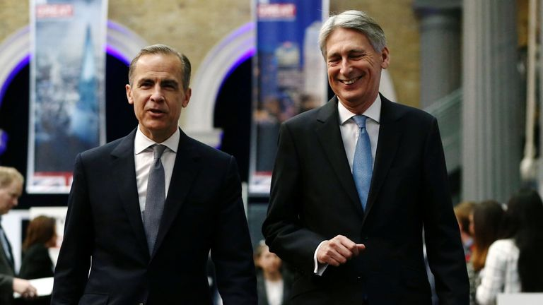 Mark Carney, left, and Philip Hammond have resisted calls to soften regulations
