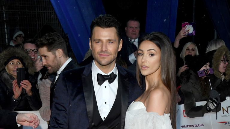 Mark Wright and Michelle Keegan on the red carpet at the NTAs