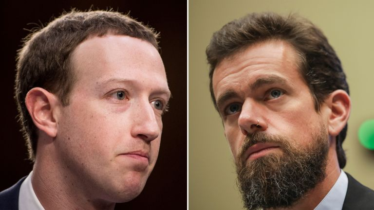 Mark Zuckerberg (left) and Jack Dorsey are among the most high-profile figures in the tech industry