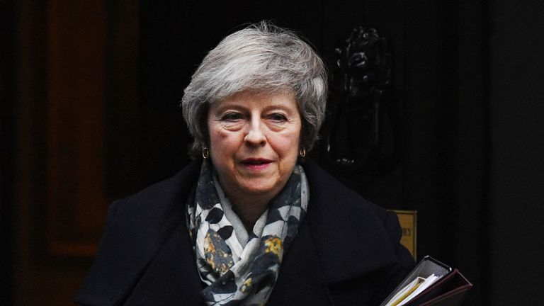 A crucial vote on whether to back Mrs May's plan is due in the next two weeks