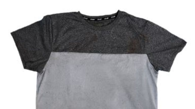 Police believe this t-shirt was left by the person responsible for her murder