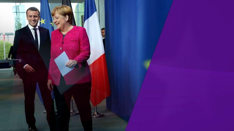 Macron and Merkel Sky Views