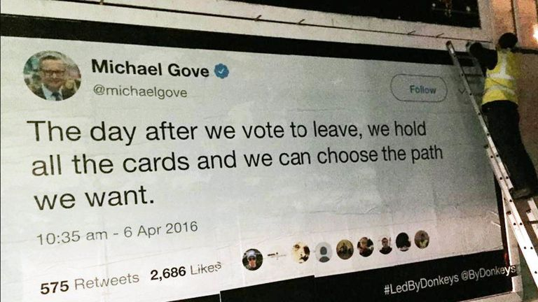 Michael Gove said the UK would hold all the cards