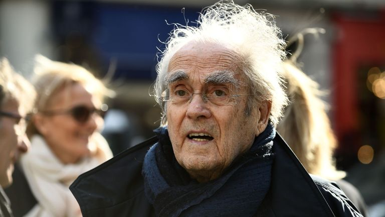 French composer and pianist Michel Legrand arrives at the church of Saint-Pierre du Gros Caillou in Paris on March 14, 2017 to attend the funeral of French journalist Pierre Bouteiller. Pierre Bouteiller died on March 10, 2017 at the age of 82. / AFP PHOTO / ERIC FEFERBERG (Photo credit should read ERIC FEFERBERG/AFP/Getty Images)