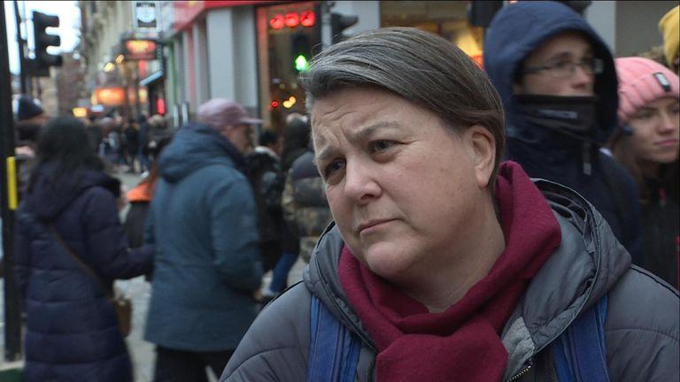 Bridget Chapman said most people seeking asylum do not come to the UK