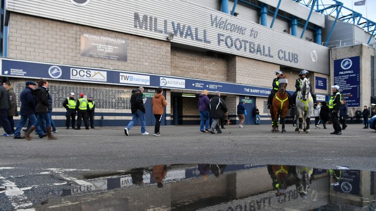 Millwall say supporters involved in the clashes will be banned from The Den for life