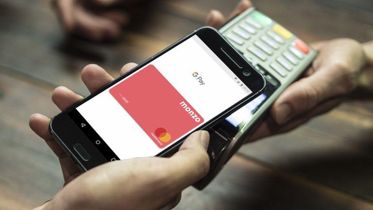 Monzo smartphone app banking