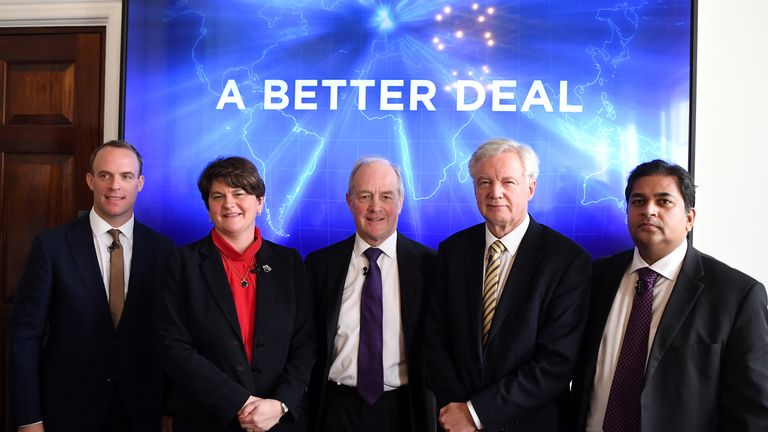 Several MPs including David Davis and Arlene Foster have presented an alternative deal