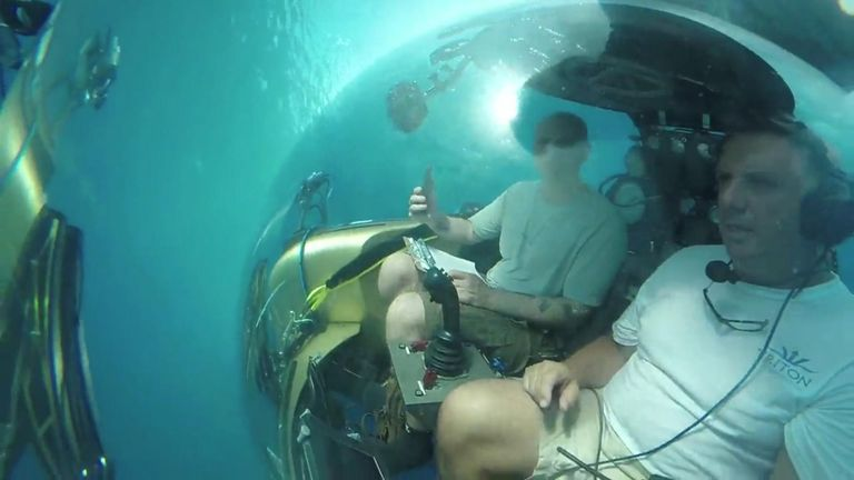 Working with scientists from the Nekton mission Sky News will use small submarines to descend past coral gardens into the dimly lit and little explored 'twilight zone' at a depth of 300 metres
