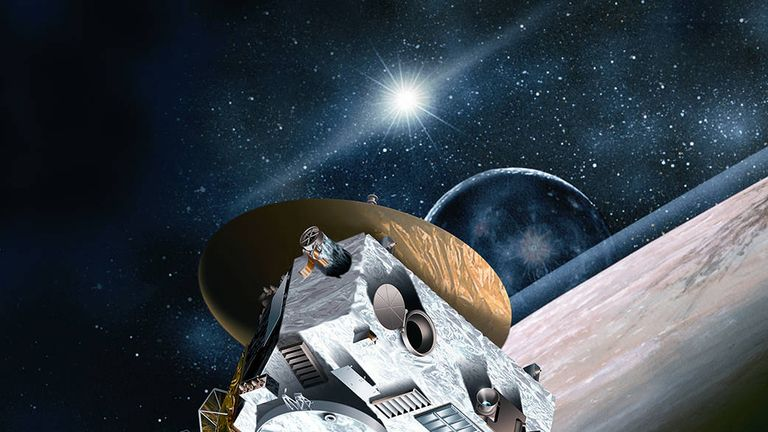 An artist's illustration of New Horizons as it flew past Pluto a few years ago. Pic: NASA