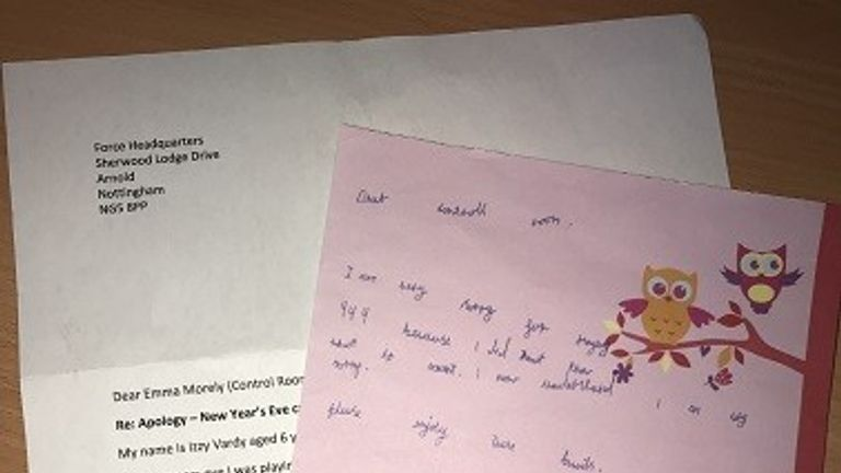 Izzy sent a letter to apologise