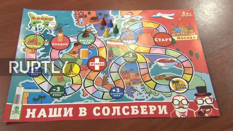 Novichok board game. Pic: Ruptly