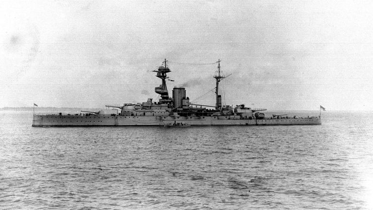 The battleship was struck by a German submarine six weeks into the Second World War