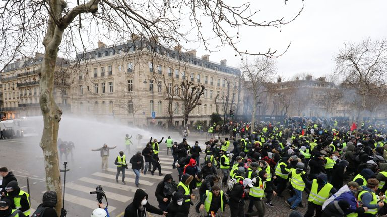 The demonstrations come ahead of a 'national debate' in France next week