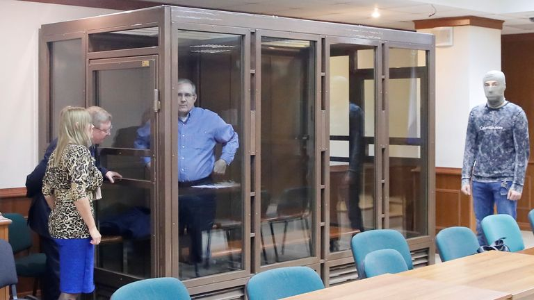 Mr Whelan appeared in court in a glass cell