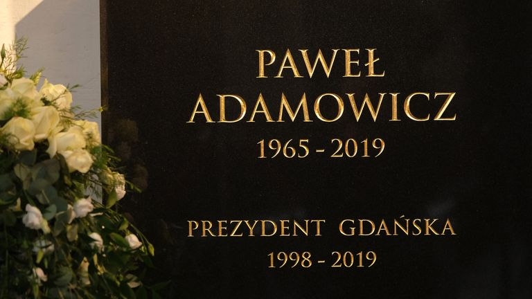 Pawel Adamowicz died after being attacked at a charity event