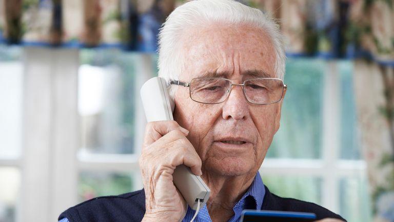 Pension scam calls are banned. File pic
