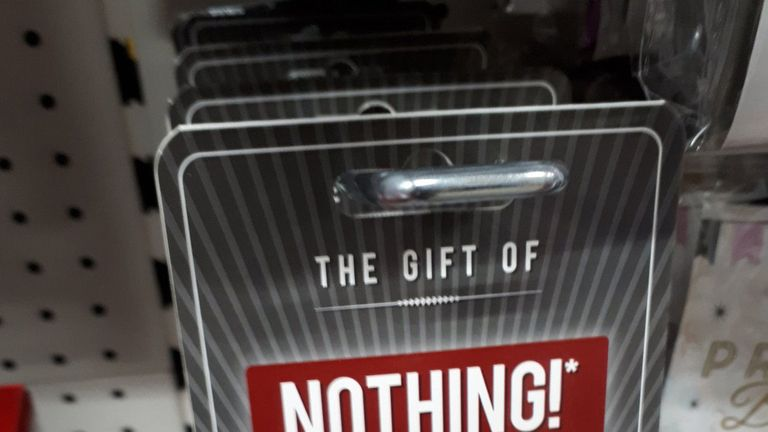 The Gift Of Nothing, a product on sale at Poundland. Pic:  @KimxPx