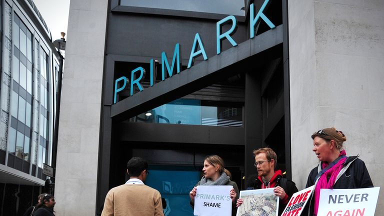 Primark has apologised after a human bone was found in a pair of socks