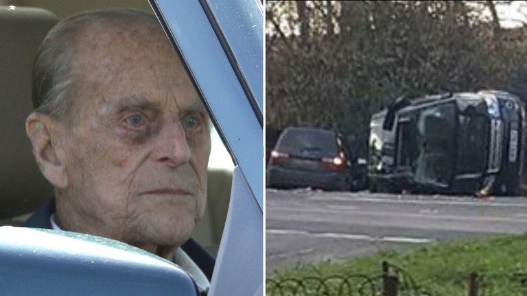 Image result for prince philip car crash